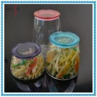 Buy cheap Airtight Kitchen Storage Jar Glass Container with Plastic Lid product