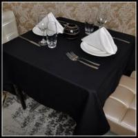 Buy cheap High quality 100% cotton black banquet table cloths and table napkin from wholesalers