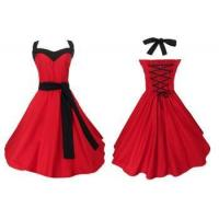 Buy cheap wholesale manufacturer mod clothing custom made vintage style fashion red evening dresses from wholesalers