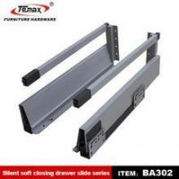 Buy cheap 02.Drawer slide BA302 Cold rolled steel full extension soft closing drawer from wholesalers