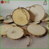 Buy cheap Wholesale Wood Tree Log Disc Wood Slices Branch Button Coaster Rustic Wedding Christmas Ornament from wholesalers