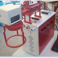Hand Held Portable Fiber Laser Marking Machine For Meta Products Processing 20w