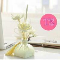 Wholesale Customized Glass Bottle True Scent Sola Flower Reed Diffuser Gift Set for Christmas