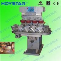 Buy cheap 4 color promotional gifts printing ink cup pad printing machine with conveyor GW-M4/BP from wholesalers