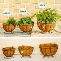 Buy cheap Hanging Basket With Flower Plant Planter Metal from wholesalers