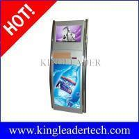 Buy cheap Self serve ticketing kiosk with SAW touchscreen and two stainless steel poles from wholesalers
