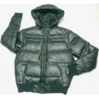 Buy cheap Casual Men's synthetic leather hooded jackets from wholesalers