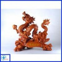 polyresin artificial wood dragon sculpture