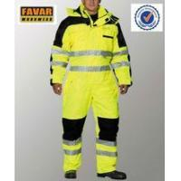Buy cheap Polyester 300D oxford high visibility winter coveralls waterproof from wholesalers