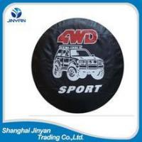 Hot sell good quality 15-17 inch PVC PU leather land cruiser spare tyre cover