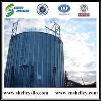 Buy cheap Flat Bottom Silo Concrete foundation 10000t galvanized corn maize storage silo from wholesalers