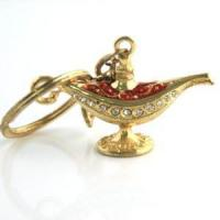 Buy cheap Unique design indian keychain Lamp of Aladdin keychain from wholesalers