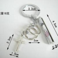 Buy cheap Personalized Christian keychain sand clock keychain cross keychain from wholesalers