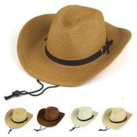 Buy cheap straw cowboy hat, simple style straw cowboy hat from wholesalers