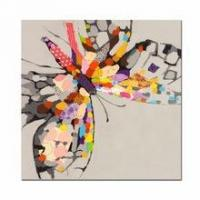 Buy cheap Abstract Oil Painting Prints,Modern Colorful Butterfly Design Art,Dropship Canvas Art from wholesalers
