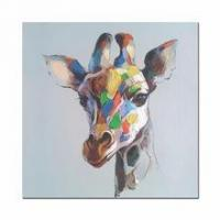 Buy cheap Abstract Deer Oil Painting Giclee Print Framed Canvas Art for Home Decoration from wholesalers