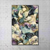 Buy cheap New Arrival High Quality handmade frame flower abstract oil painting from wholesalers