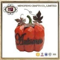 """Buy cheap Holiday Products Happy Thanksgiving Resin figurine 4"""" Tall Fall Autumn Pumpkin product"""