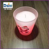 2014 New Frosted Glass Votive Christmas Candle Holder