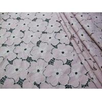 Buy cheap Floral Heavy Cotton Nylon Lace Fabric / White Stretch Lace Fabric SYD-0005 from wholesalers