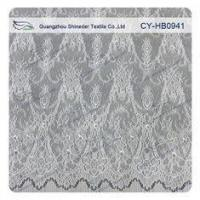 Buy cheap Antique Decorative Eyelash Lace Trim Fabric With Scallop , Floral Lace Trim from wholesalers