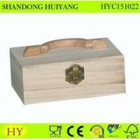 Buy cheap wood box packing handle box from wholesalers