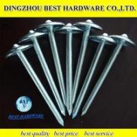 Buy cheap roofing nails twisted with umbrella head from wholesalers