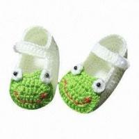 Buy cheap Baby Crochet Shoes, Suitable for 3 to 9 Months, Non-toxic and Eco-friendly from wholesalers