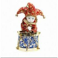 Buy cheap 20cm Triangel Porcelain Doll with Rotating Ring Music Box from wholesalers