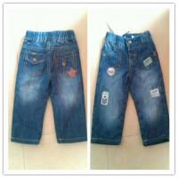 Buy cheap boy's compound fabric with aqqlique jeans pant from wholesalers