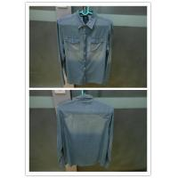 Buy cheap jeans tops men's denim jeas shirt from wholesalers