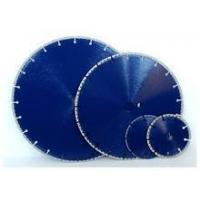 Buy cheap 300mm Vacuum brazed diamond blade with semicircle 60mm bore from wholesalers