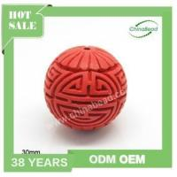 Buy cheap Factory sell cinnabar beads, Hand carved beads , red cinnabar beads product