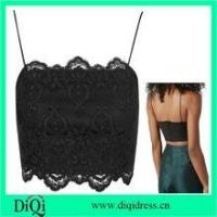 Fashion girls wholesale strappy party wear blouse black lace bralet tops