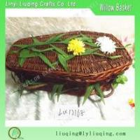 Buy cheap Factory supplies willow wicker coffin wicker casket for funeral for sale handmade from wholesalers