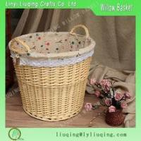 Buy cheap Factory supplier Large Wicker Basket with Handles for Logs, Kindling, Toys, Storage with ear handles from wholesalers