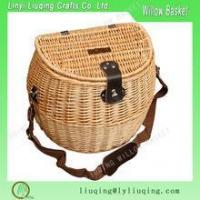 Buy cheap Wholesale natural wicker basket with cover/Fishing basket wicker /Wicker fishing creel basket from wholesalers