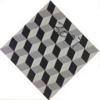 Buy cheap 300x300mm 12x12 black and white crystal polished tiles from wholesalers
