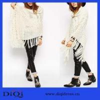 Buy cheap 2016 New special high fashion crochet lace cardigan fashion knitted cloak from wholesalers