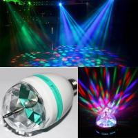Buy cheap 3W RGB E27 LED stage Light Colorful Rotating Globe Light Bulb Lamp for Party DJ Disco Club Lighting from wholesalers