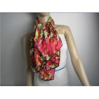 Buy cheap Big Silk Scarf Hot sales women's beautiful flower print scarf from wholesalers