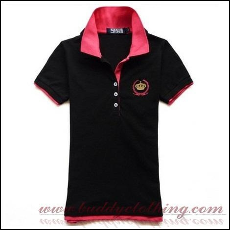 Double collar polo shirt with embroidery 12004 44292559 for Embroidered work shirts no minimum order