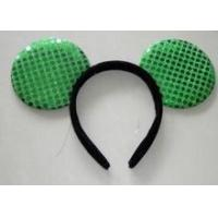 Buy cheap Green sequin sparkly mouse ears headband for Children from wholesalers