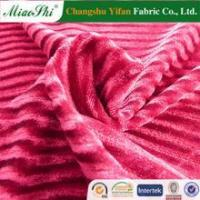 Buy cheap Warp knitting micro velvet strip fabric for suits from wholesalers