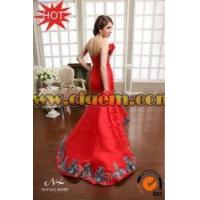 Buy cheap Ethnic Clothing Newest Red Strapless Mermaid Long Bollywood evening dresses under 50 from wholesalers