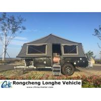 Buy cheap Blazing Red Lips- off road camping trailer for sales with trailer tent from wholesalers