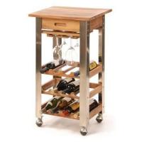 Buy cheap Kitchen Trolley Series wine serving cart with wheels/elegant designed serving cart from wholesalers