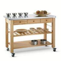 Buy cheap Kitchen Trolley Series wooden food serving trolley cart,tea serving trolley from wholesalers