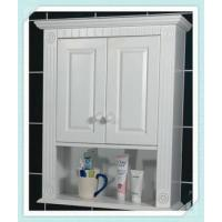 White wall cabinet bathroom furniture quality white wall for Waterproof bathroom cabinets