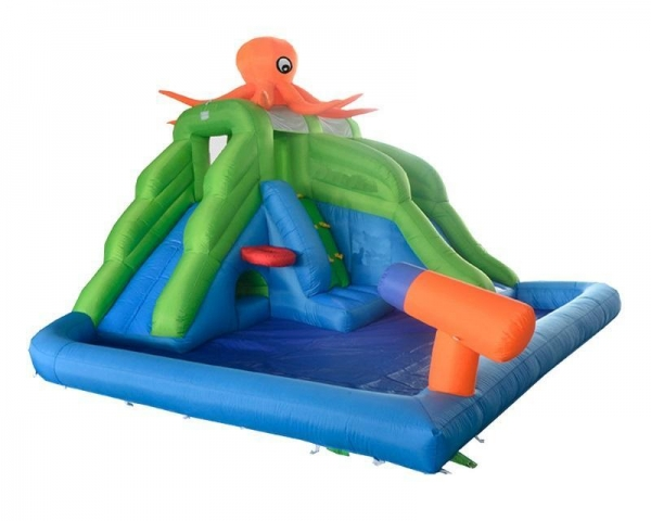 Backyard Octopus Inflatable Water Park Slide Swimming Pool For Kids Hot Summer 44280199